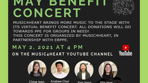 Music4Heart.Org News Update : 2021 May Virtual Concert at 4pm on 05/02/2021 (Sunday)