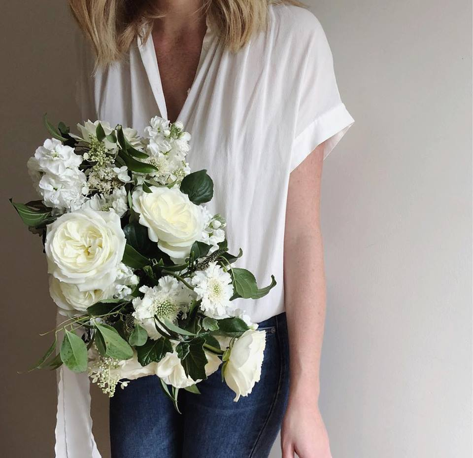 Summer Green and White Bouquet