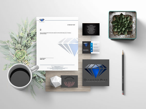 Branding Mockup - Diamond Risk (Pty) Ltd