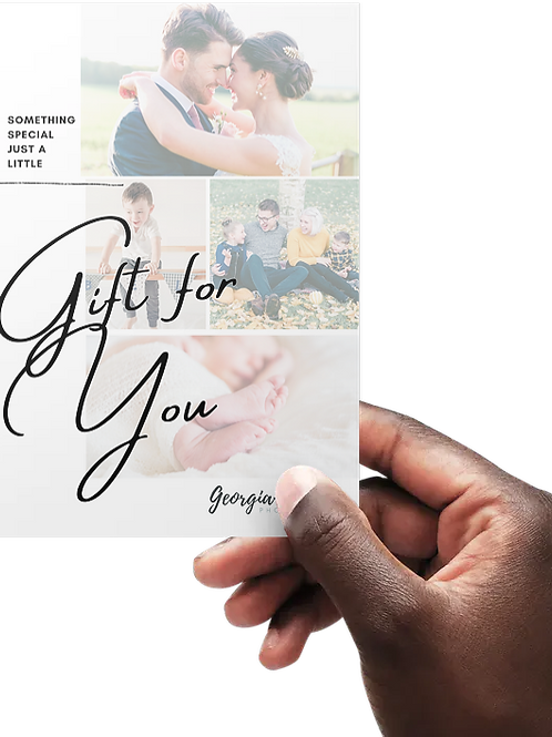 Photography Gift Card - £120 - 1 Hour Portrait Session