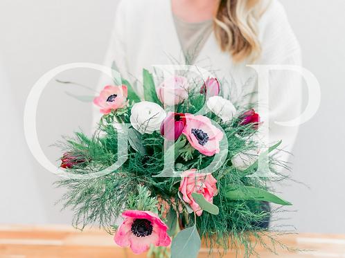 Stock Photo - Florist holding Bouquet