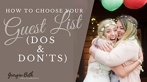 Guest list dos and don'ts Georgia-Beth Photography