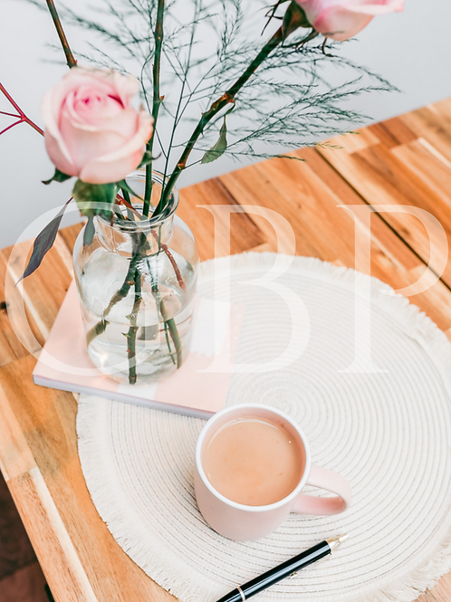 Stock Photo - Blush rose 'get things done'