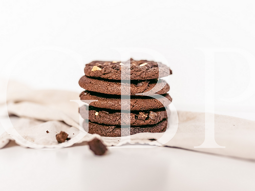 Stock Photo - Triple Choc Cookie Stack