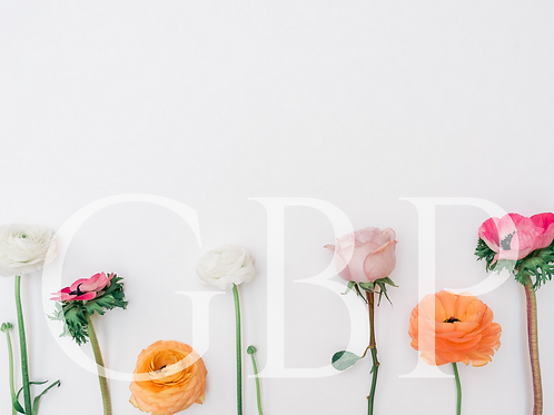 Stock Photo - Flowers with Space for writing 2