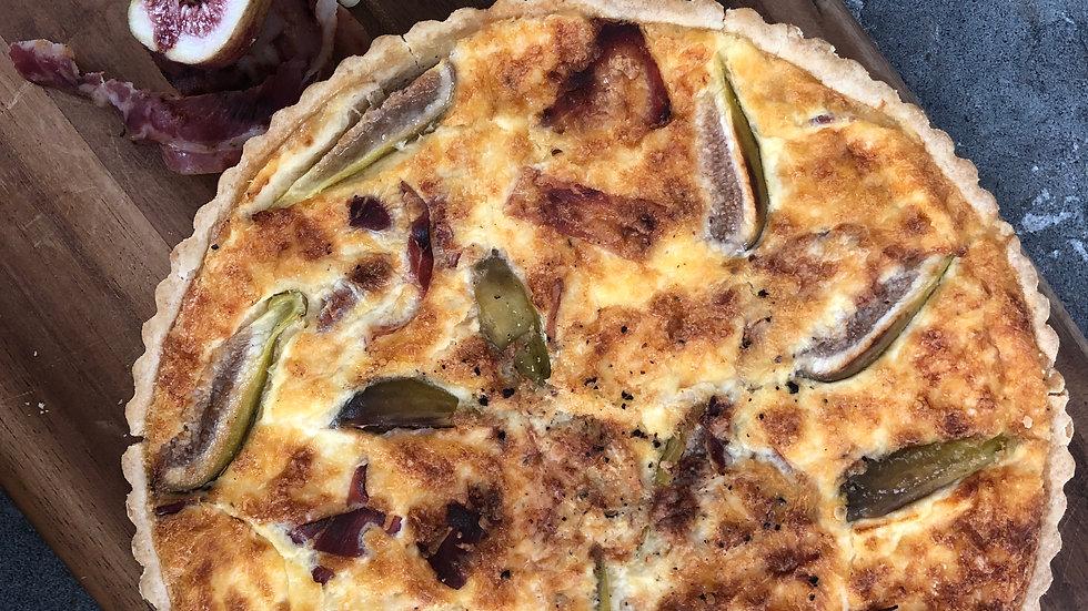 Pancetta, Fig and Havarti quiche