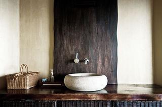 Rústico fregadero cuarto de baño