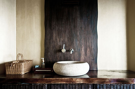 Rustico lavandino del bagno