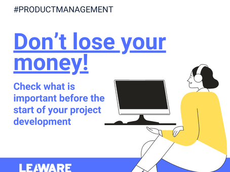 Don't lose your money - check what is important before the start of your project development