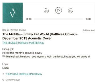 December 2019 acoustic cover