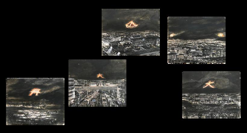 「京の送り火 五景」