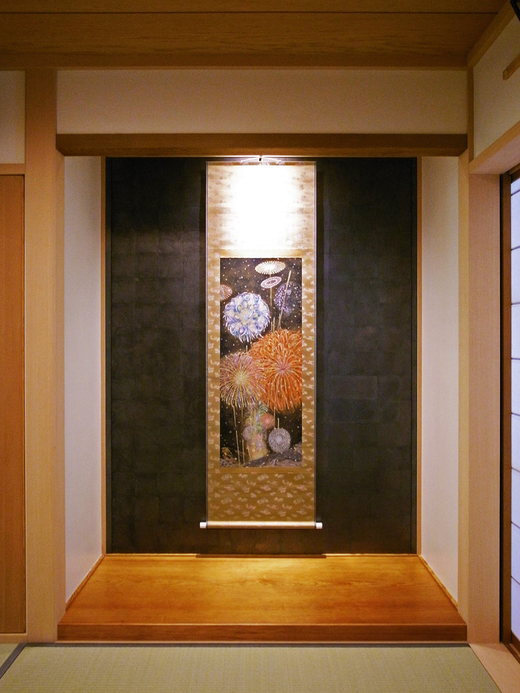 「焔響山雪」展示風景