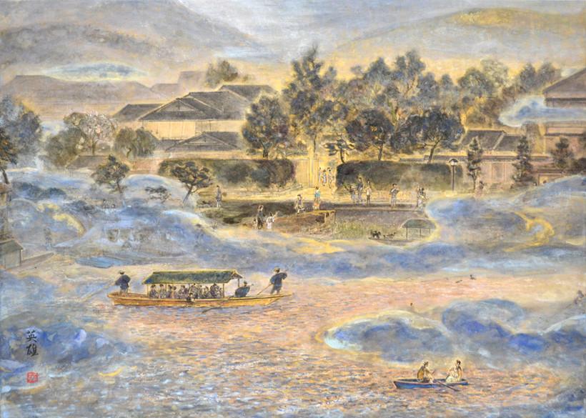 「嵐山霧中」