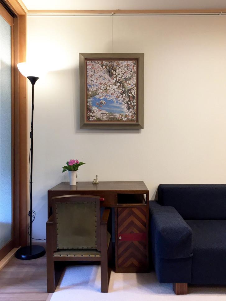「蔵王堂の桜」展示風景