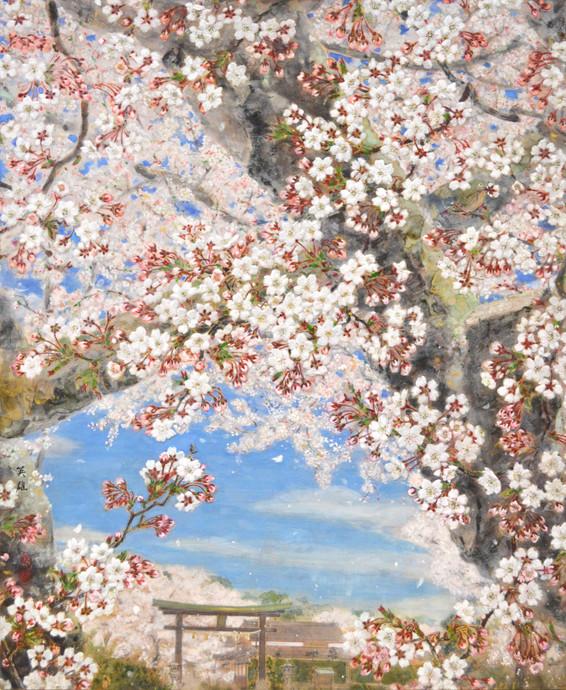 「蔵王堂の桜」
