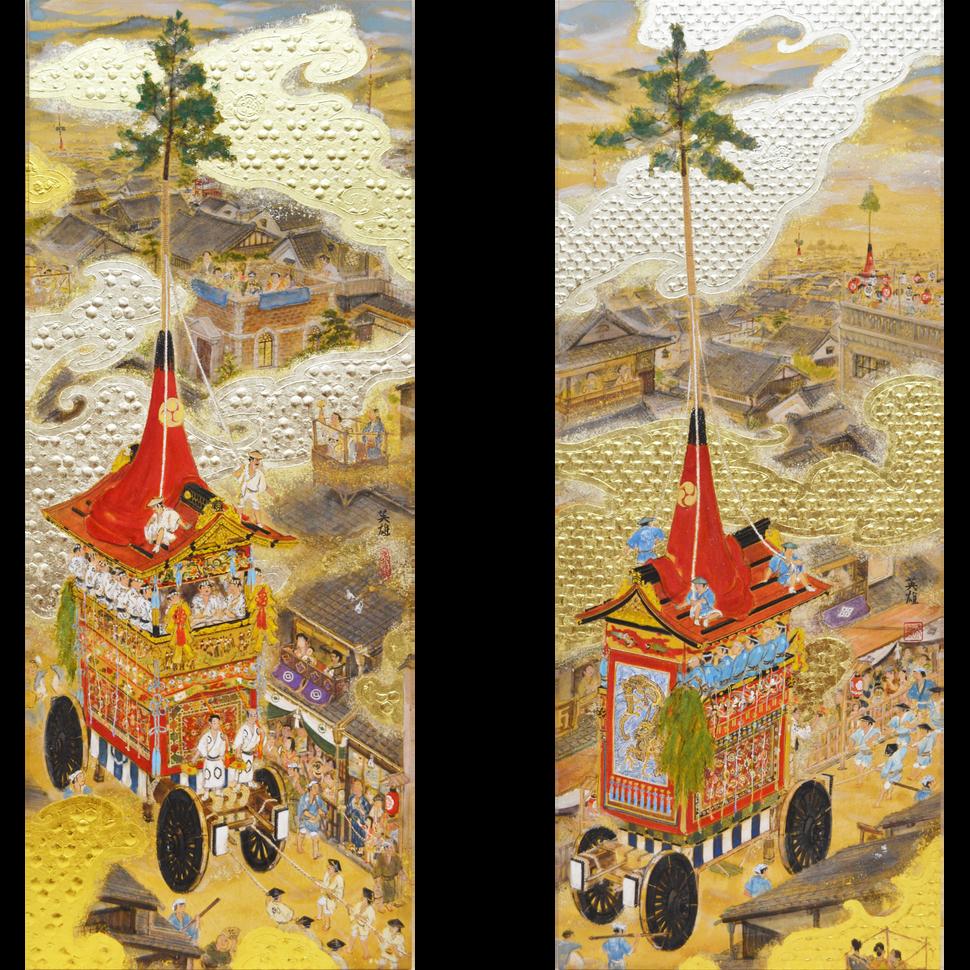 「北観音山」(左)・「南観音山」(右)