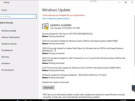 Manual Windows Update using Update Utility
