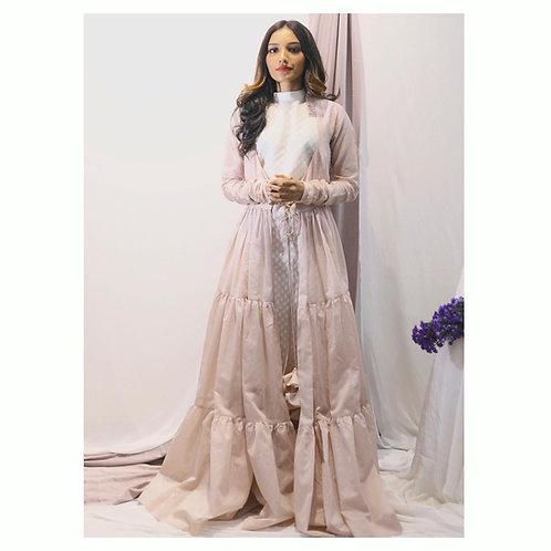 Layered over dress with kurti