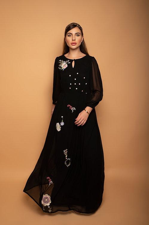 Charcoal black Catholic maxi dress