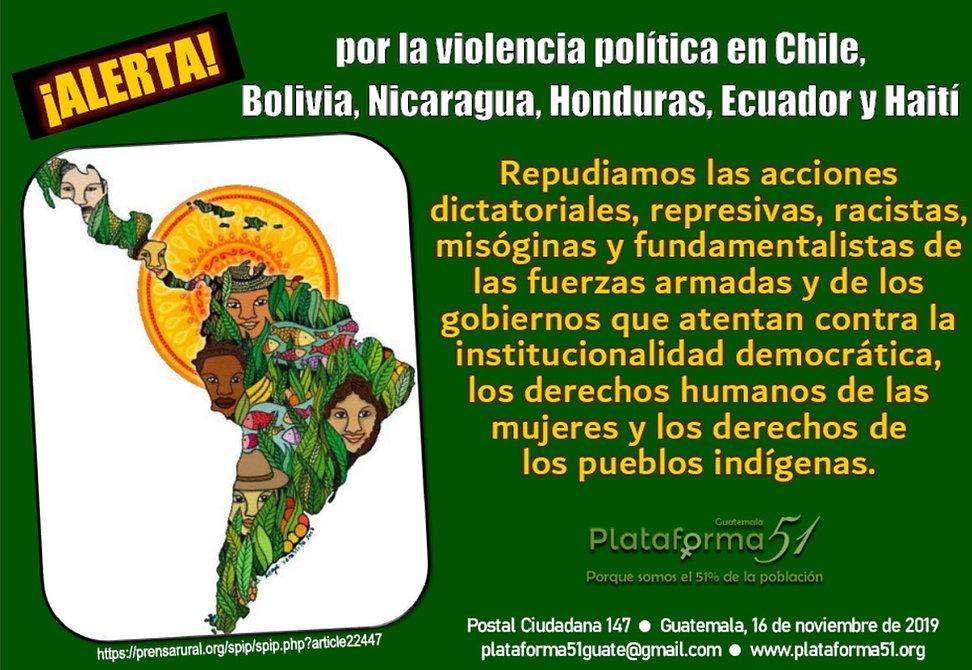 Postal Ciudadana 147 de la Plataforma 51 de Guatemala