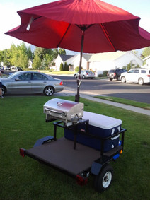 Custom Tailgate BBQ for motorcycle, golf carts, etc.