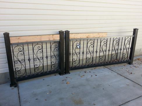 Custom Design Rails w/ Wood Top