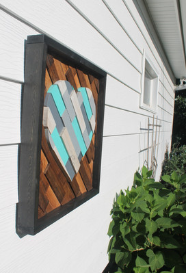 Blue Heart Wood Wall Art