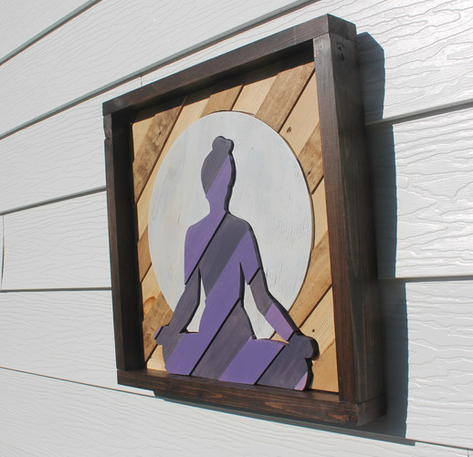 Yoga Wood Art