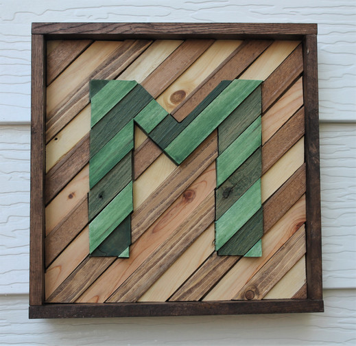 Letter Wood Wall Art