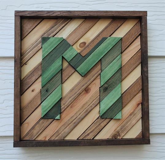 Letter Wood Wall Art