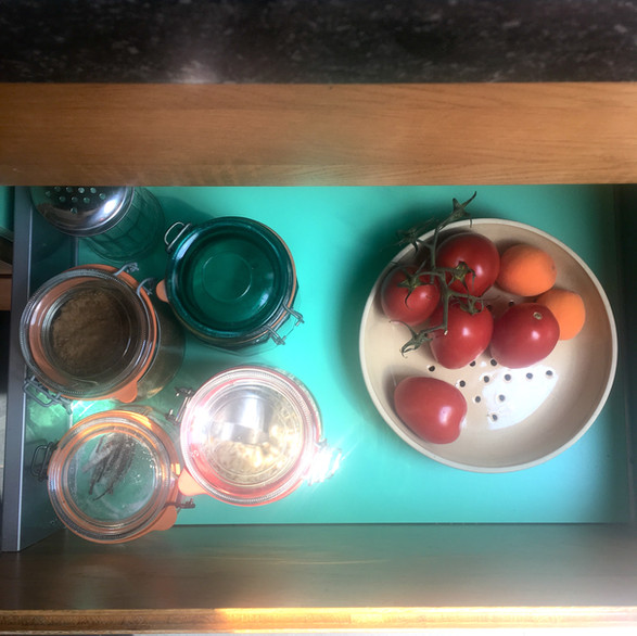 Kitchen drawer with hidden secret.