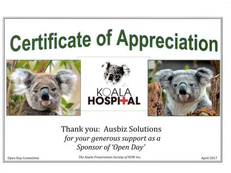Congratulations Koala Hospital