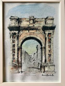 Roman Porta aurata Pula