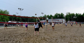 Community Again Digging Volleyball at Forest View