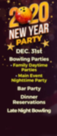 2020 New Year's Eve Bowling Parties