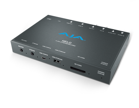 Convertor video streaming AJA HELO Stream, Record, Deliver  H.264