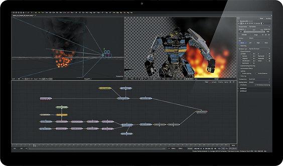 Software efecte video Blackmagic Fusion 9