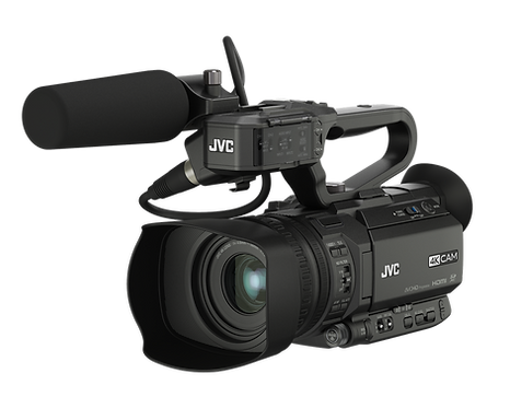 Camera video JVC GY-HM180E Compact 4K camcorder with 3G-SDI