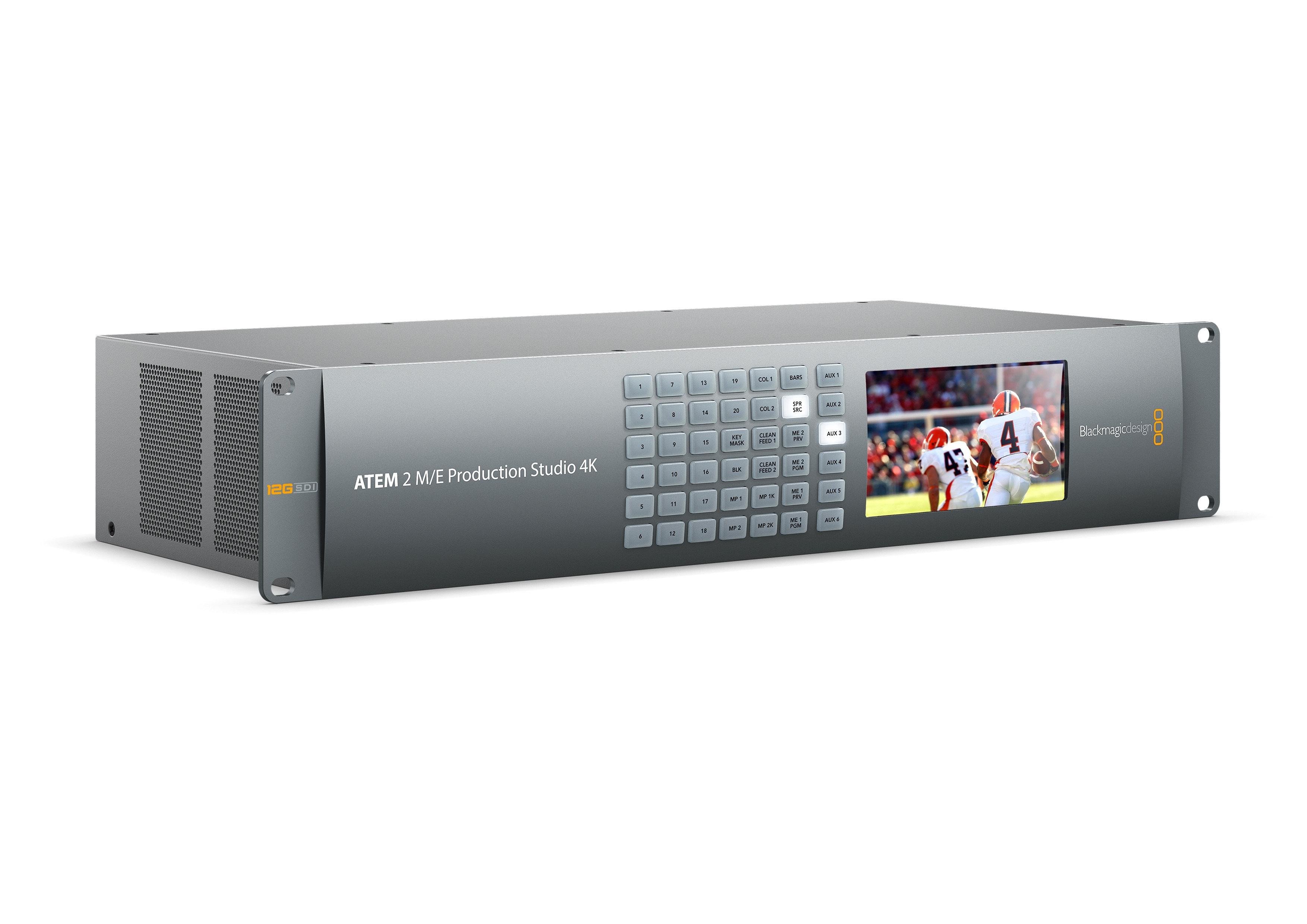 Mixer Video Blackmagic Atem 2 M E Production Studio 4k Video Switcher Digitalmediaeng