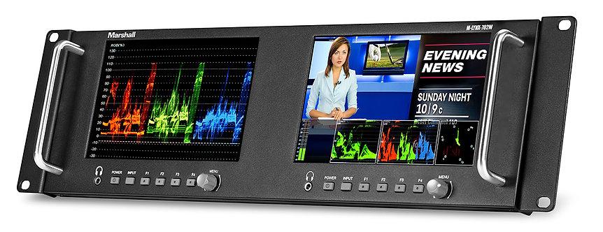 "Monitor video Marshall M-LYNX-702W Dual 7"" Rackmountable with HDMI, 3G-SDI"