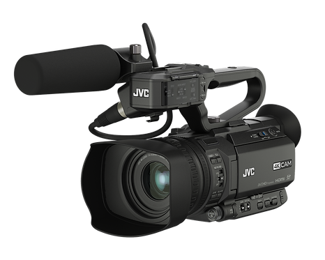 Camera video JVC GY-HM250E Compact live streaming 4K camcorder with SDI