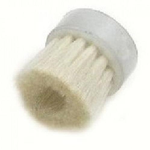 Кръгла четка от бяла козя козина