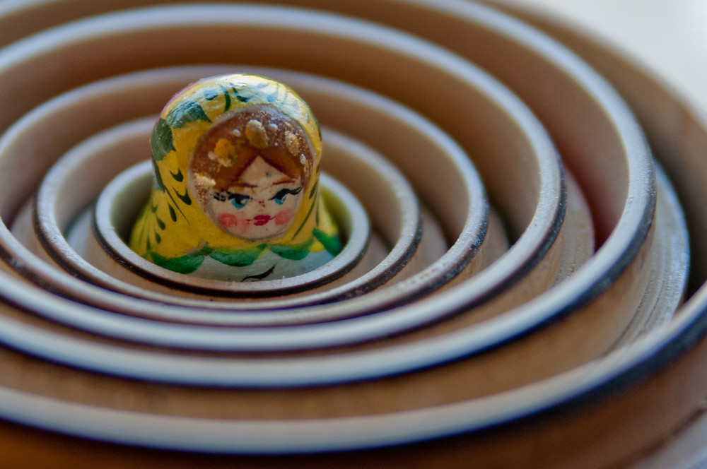 """""""The inner doll of a set of Russian Nesting Dolls the 14 year old received for her birthday."""""""