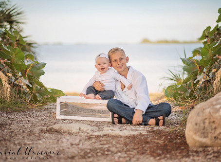 Tarpon Springs Beach Family Session | Zach and Sailor