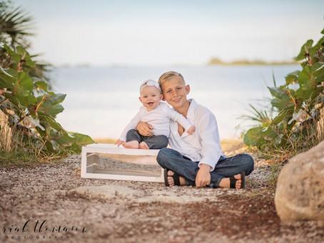 Tarpon Springs Beach Family Session | Zach and Sailor
