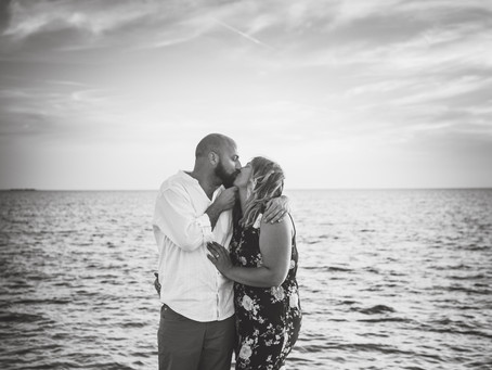 Jeff + Tiffany | Tarpon Springs Beach Engagement Session