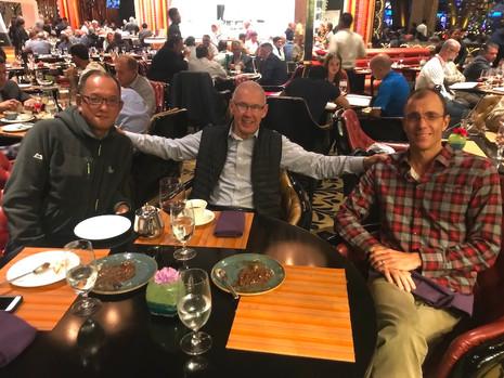 November 8th: Futek Furnace Principal/President, Miwa Kazuo, Kenton Read and I enjoyed a night out