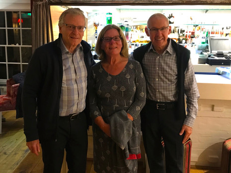 September 24th: NANI dines with Nordiko Technical Services, Ltd. principals Mervyn and Gillian Davis