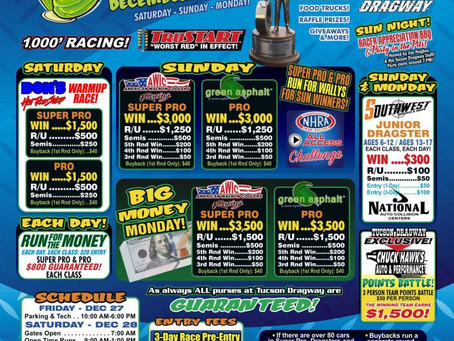 Tucson Dragway's Hanover Nationals Pre-Entries Open!