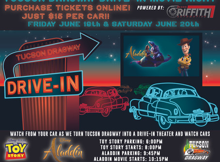 Tucson Dragway Drive-In Movie's Toy Story & Aladdin!